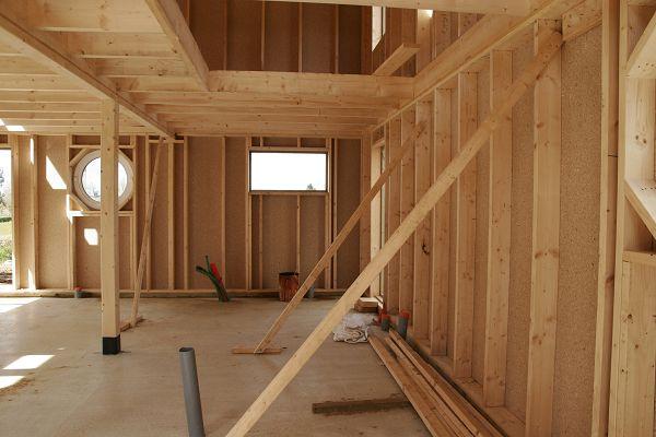 Extension maison avec ossature en bois